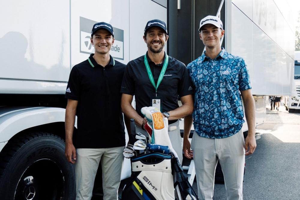 From left to right. Rasmus Højgaard, Mark Thistleton and Nicolai Højgaard