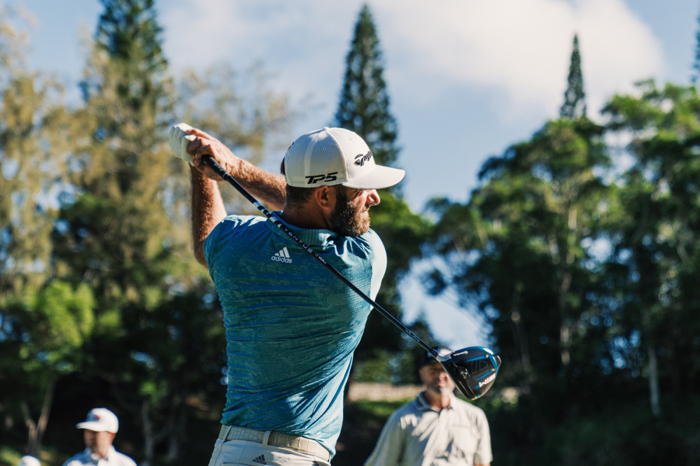 SIM2 makes its PGA Tour debut at the Sentry Tournament of Champions in the hands of World No. 1 Dustin Johnson (pictured), PGA Champion Collin Morikawa and Nick Taylor.