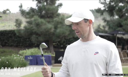 Rory McIlroy Tests the P·7MB Irons
