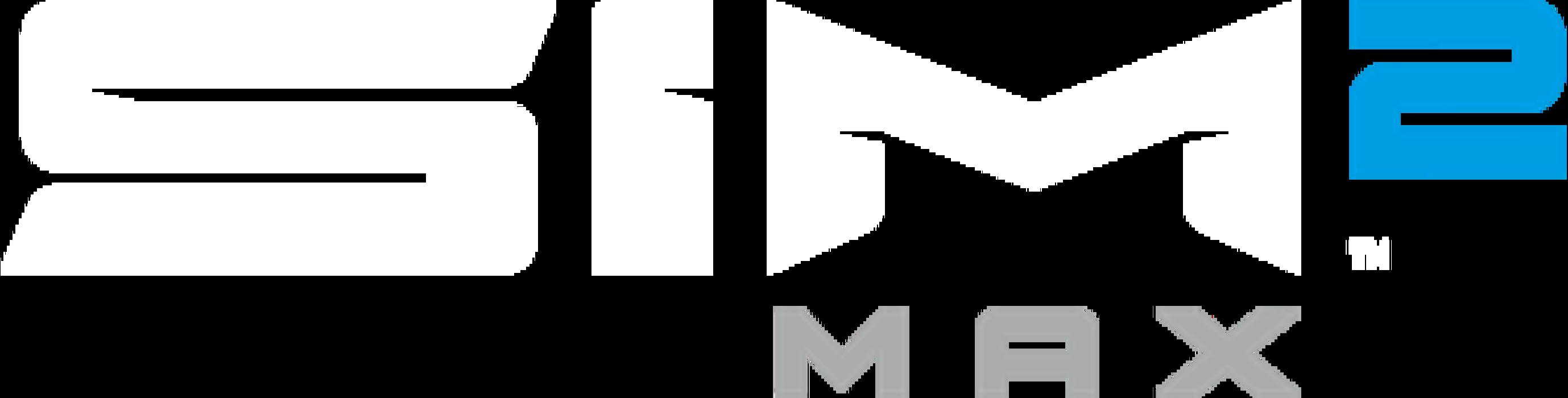 SIM2 MAX Logo Wht