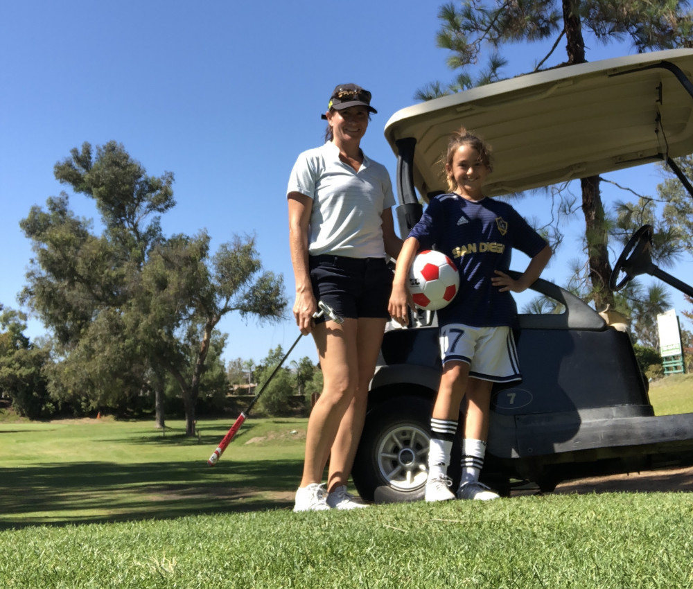 Marina Di Giacomo is working on converting her 12-year-old daughter, Giuliana, from a fútbolera to a golfer.