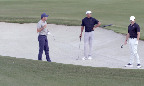 Tiger Woods, Rory McIlroy & Jason Day Short Game Session