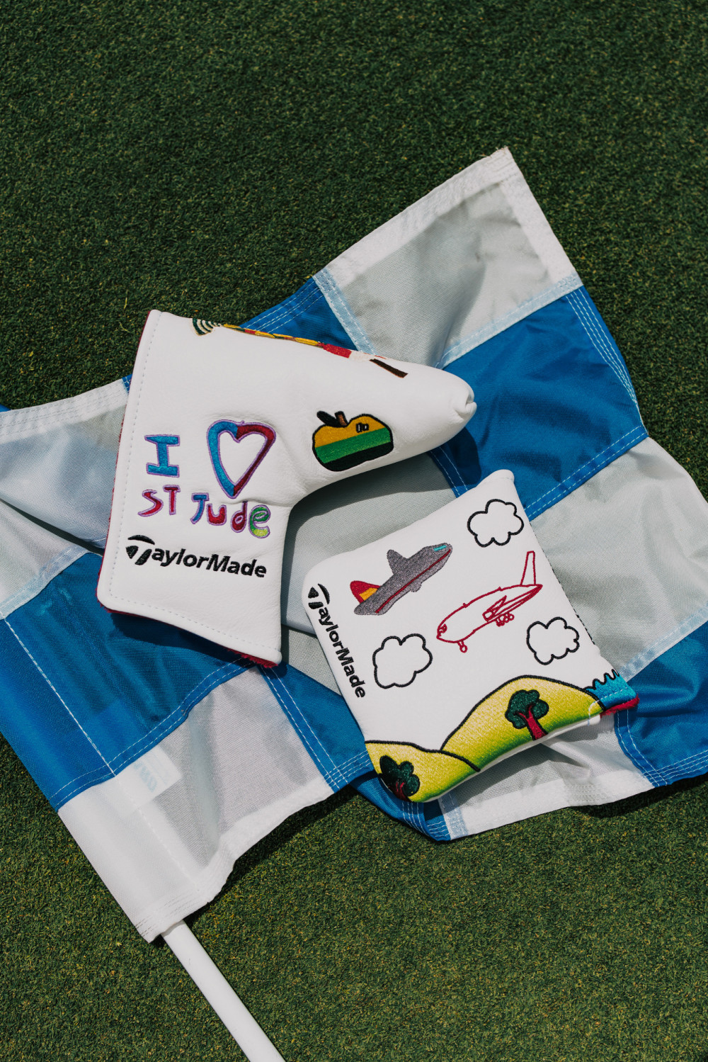 The headcovers used by TaylorMade athletes at the FedEx St. Jude Invitational.
