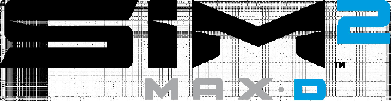 SIM2 MAX D Logo Whit alt