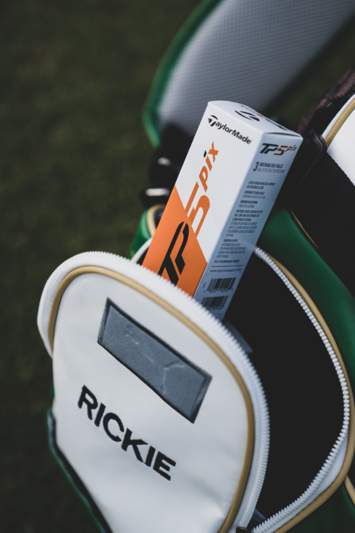 Rickie Fowler with the all-new TP5 pix golf ball.