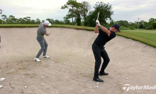 Rory, DJ and Rahm out of a bunker