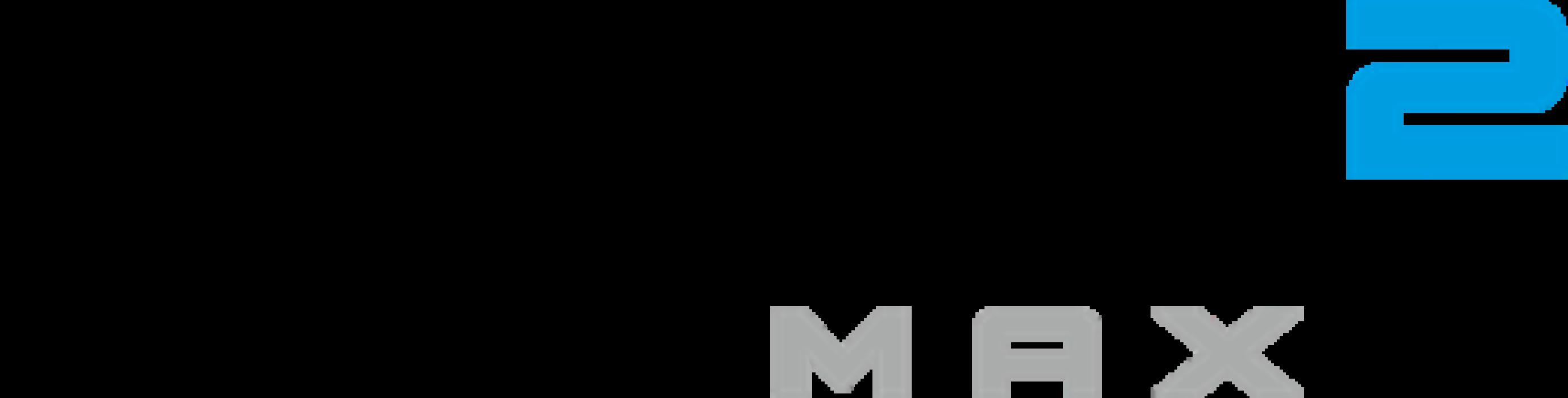SIM2 MAX Logo Wht alt