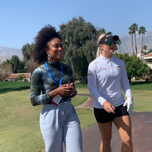 So fun to walk and talk with fellow Team TaylorMade athlete Charley Hull.